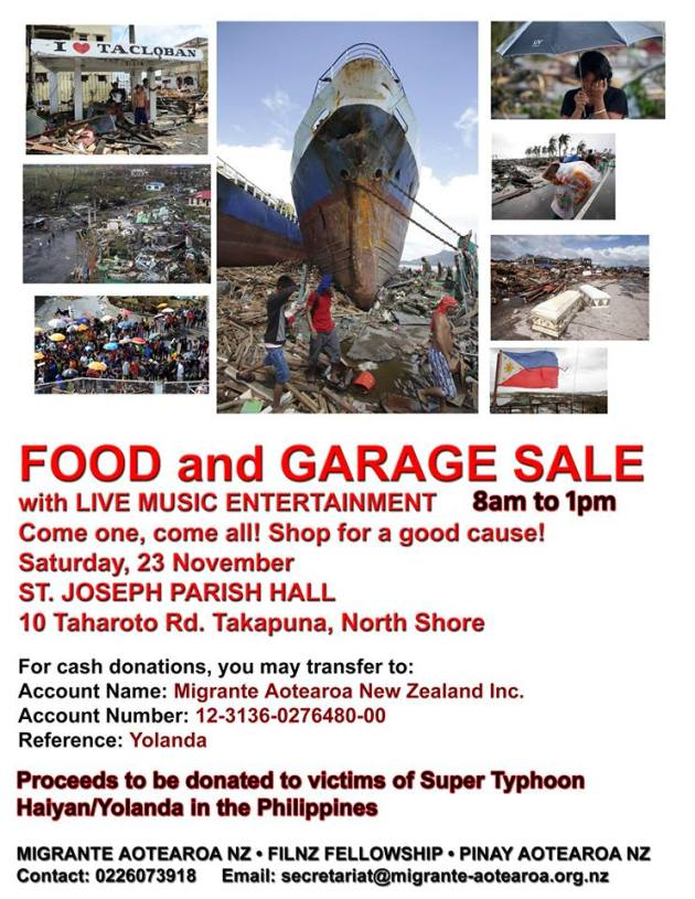 Typhoon Haiyan Fundraiser update: New venue for garage sale