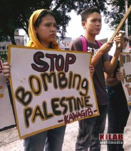 Moro protest for Palestine